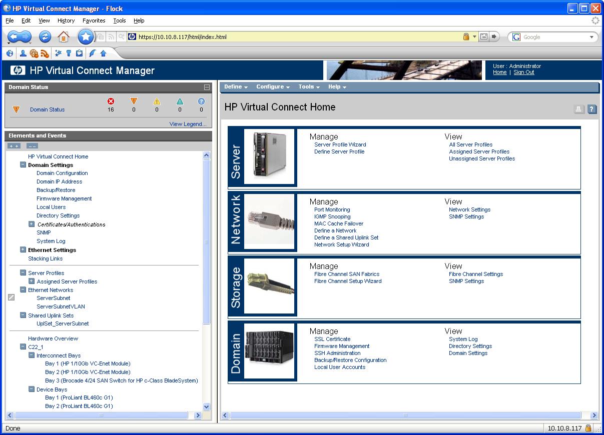HP c7000 Blade Enclosure Configuration - wojcieh.net