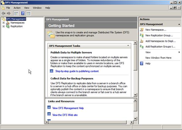 Configure a DFS NameSpace on Windows Server 2008 | Electric Monk