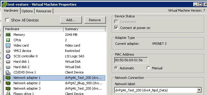 How To Change Virtual Machine Network Adapter Type Using vSphere