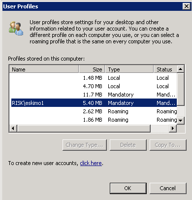 Setting up a Mandatory Roaming Profile on 2008 R2 | Electric Monk