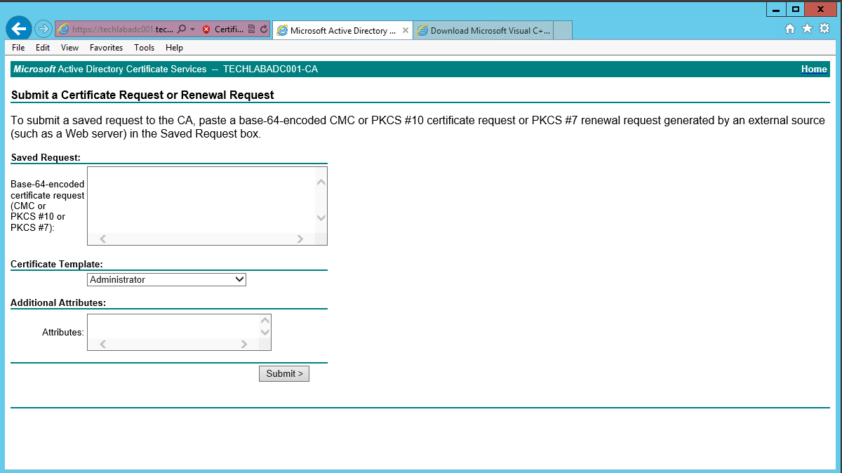 Vra certificates electric monk ensure you select the correctly configured certificate template yadclub Image collections